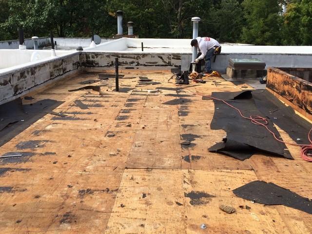 Image result for flat roof replacement